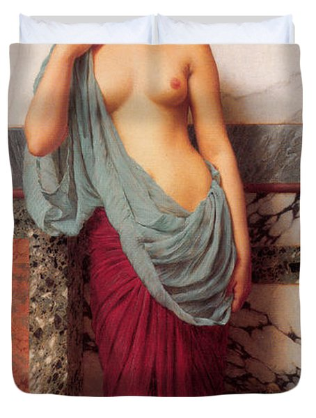 At The Thermae Duvet Cover by John William Godward