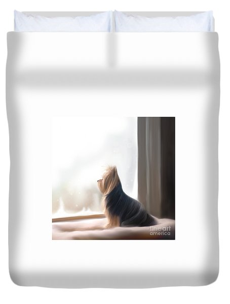 At The Window Duvet Cover