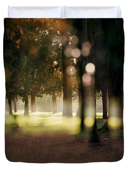 Duvet Cover featuring the photograph At The Yarkon Park Tel Aviv by Dubi Roman
