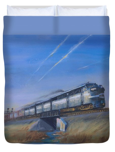 At Track Speed Duvet Cover by Christopher Jenkins