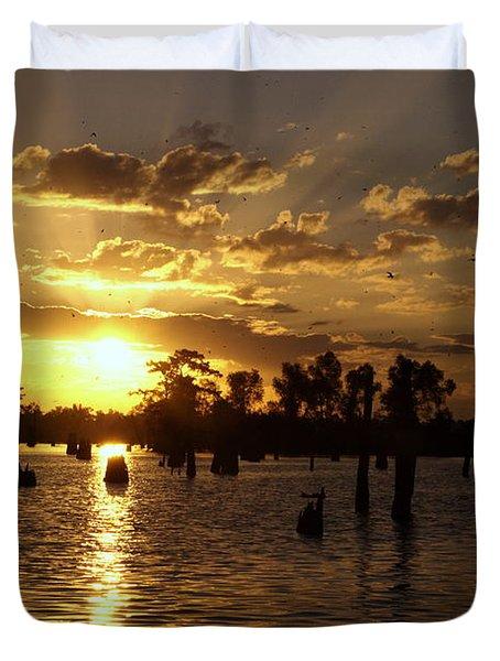 Atchafalaya Sunrise Duvet Cover
