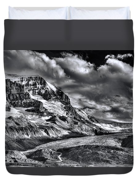 Athabasca Glacier Duvet Cover by Wayne Sherriff