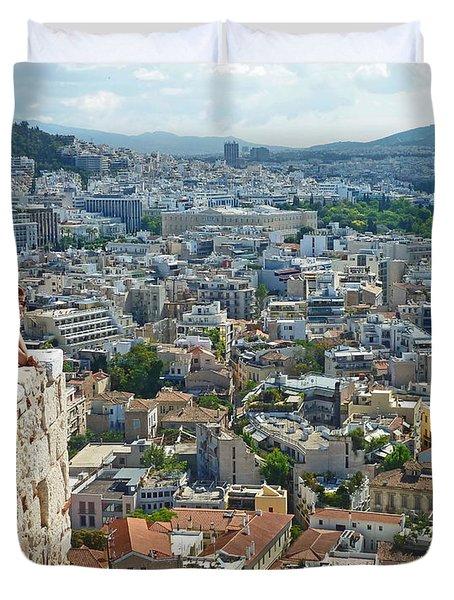 Athenian Scholars Duvet Cover by Cheryl Del Toro