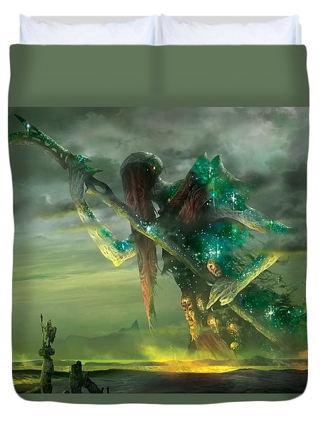 Athreos God Of Passage Duvet Cover