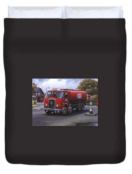 Atkinson Tanker Duvet Cover by Mike  Jeffries