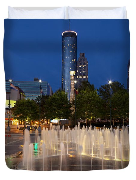 Atlanta By Night Duvet Cover