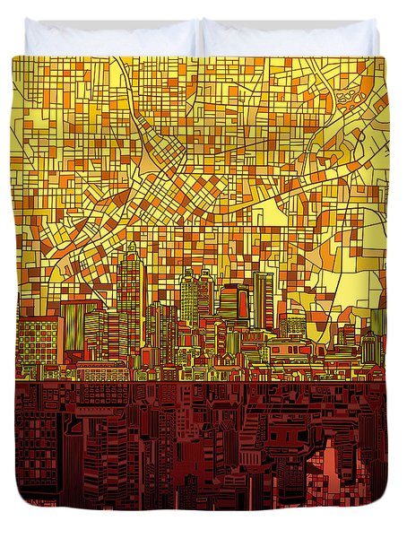 Atlanta Skyline Abstract 3 Duvet Cover