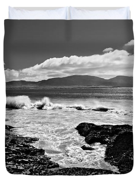 Duvet Cover featuring the photograph Atlantic Coast / Donegal by Barry O Carroll