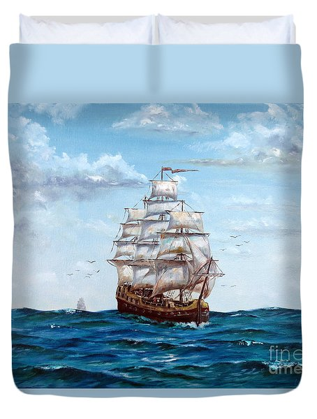 Atlantic Crossing  Duvet Cover by Lee Piper