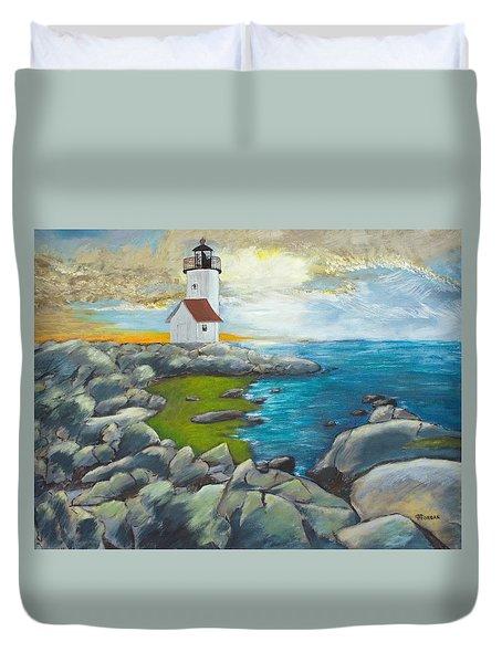 Atlantic Dusk Duvet Cover by Cynthia Morgan