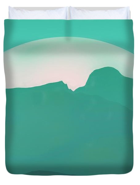 Duvet Cover featuring the painting Atlantis by Pet Serrano