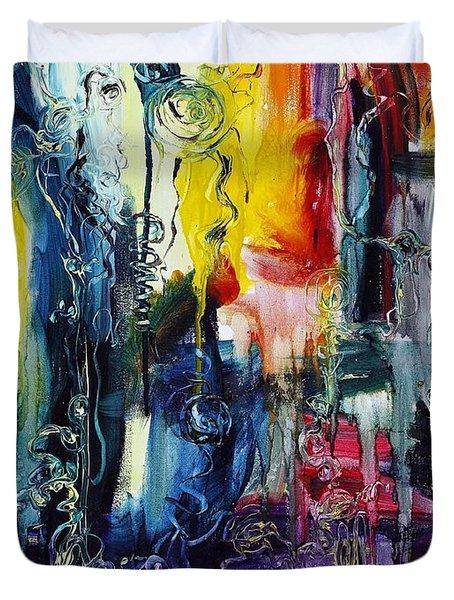 Atlantis Sinking Duvet Cover by Regina Valluzzi
