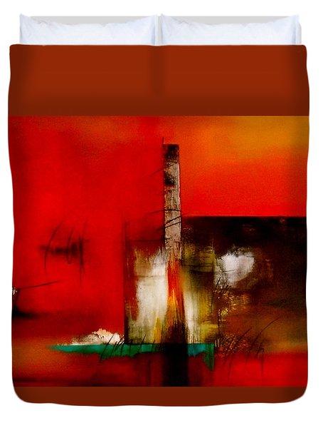 Atracando Duvet Cover by Thelma Zambrano