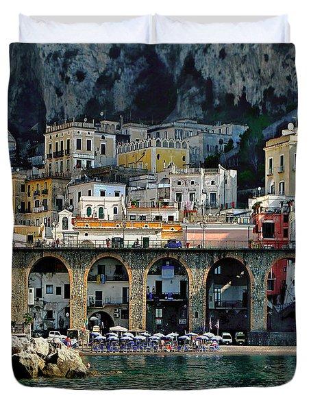 Atrani. Amalfi Coast Duvet Cover