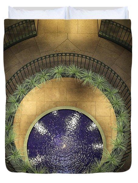 Atrium Wishing Well Duvet Cover by Lynn Palmer