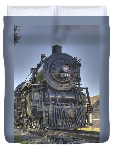 Atsf 3415 Head On Duvet Cover by Shelly Gunderson