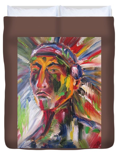 Atsila, Native American Duvet Cover