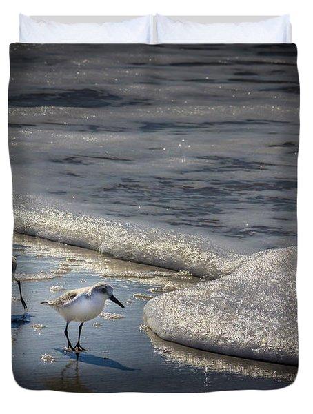 Attack Of The Sea Foam Duvet Cover