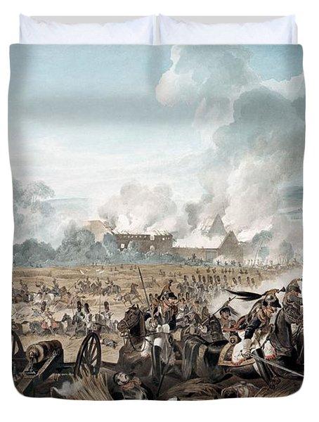 Attack On The British Squares By French Duvet Cover