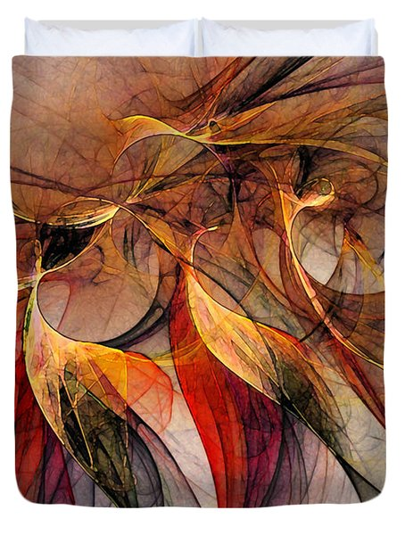 Attempt To Escape-abstract Art Duvet Cover