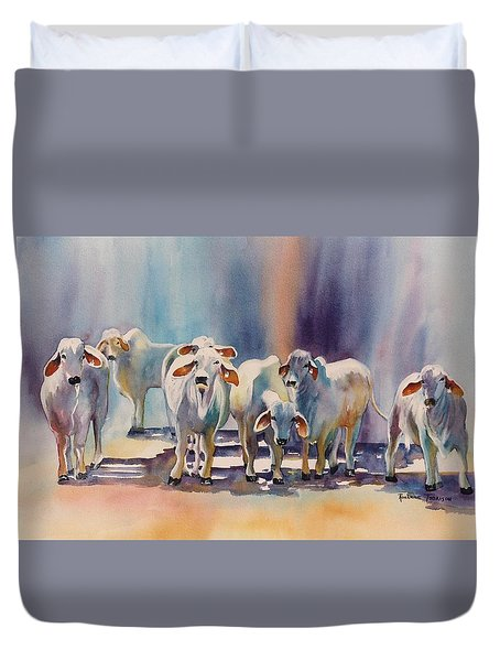 Attention All Ears.  Brahman Bulls Duvet Cover