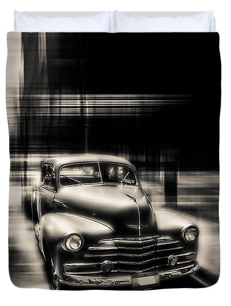 attracting curves III gray Duvet Cover by Hannes Cmarits