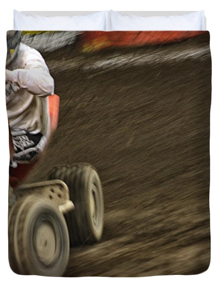 Atv Speed Duvet Cover by Karol Livote