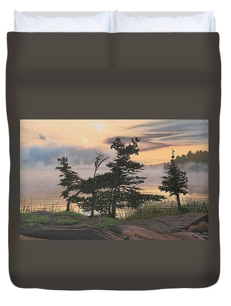 Auburn Evening Duvet Cover by Kenneth M  Kirsch