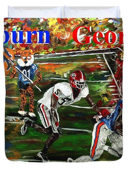 Auburn Georgia Football  Duvet Cover by Mark Moore