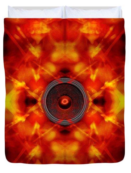 Audio Kaleidoscope Duvet Cover