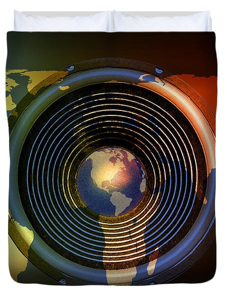 Audio World Duvet Cover