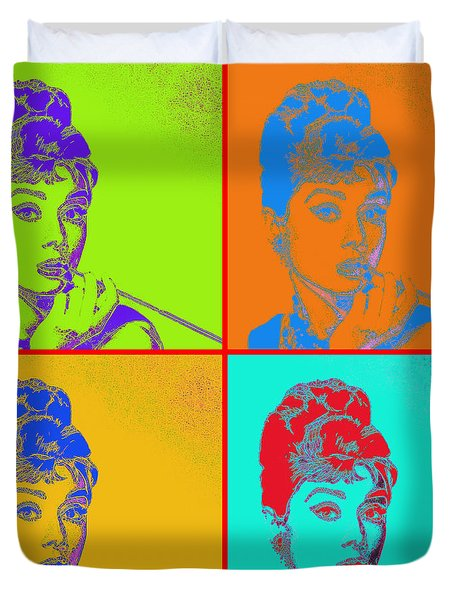 Audrey Hepburn 20130330v2 Four Duvet Cover