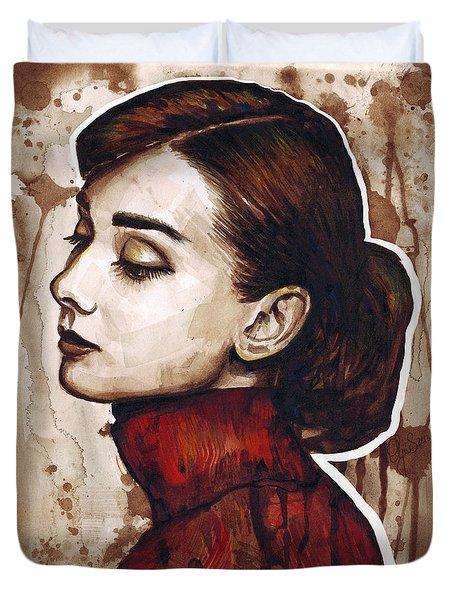 Audrey Hepburn Duvet Cover by Olga Shvartsur