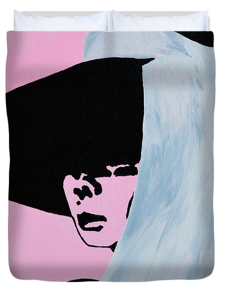 Audrey Hepburn Wears A Hat Duvet Cover by Alys Caviness-Gober