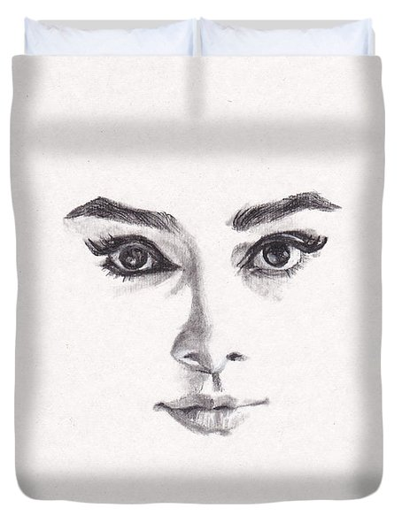 Audrey Duvet Cover by Lee Ann Shepard