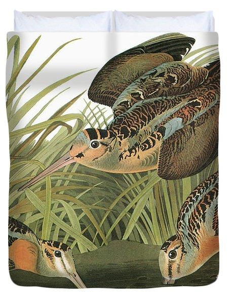 Audubon Woodcock Duvet Cover
