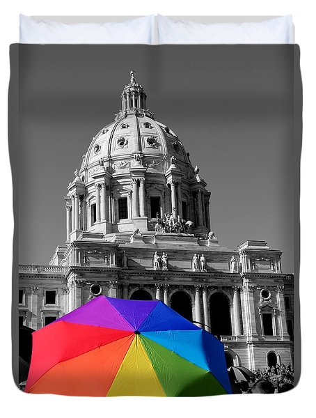 Love Is The Law Duvet Cover