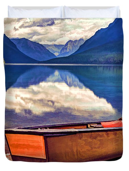 August Afternoon At The Lake Duvet Cover