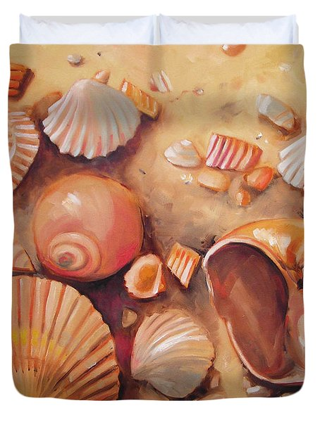 August Shells Duvet Cover by Mary Hubley