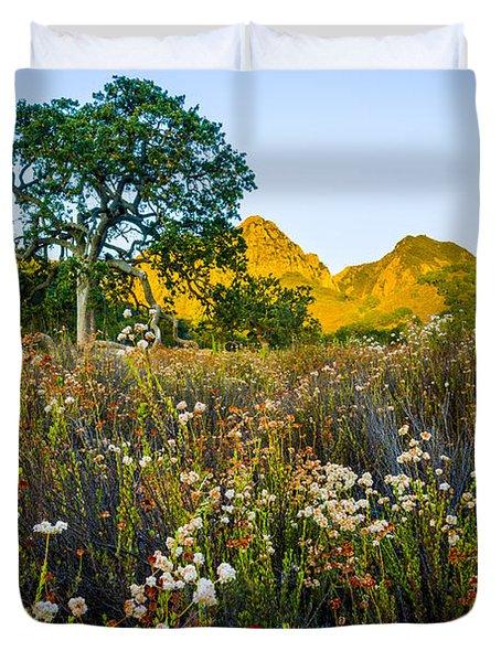 August Sunrise In Malibu Creek State Park Duvet Cover