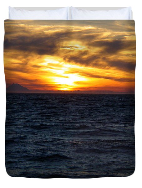 Duvet Cover featuring the photograph Augustine Sleeps by Jeremy Rhoades