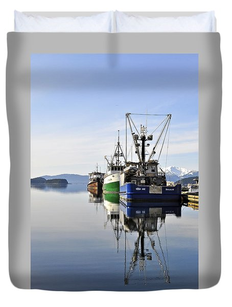 Auke Bay Reflection Duvet Cover