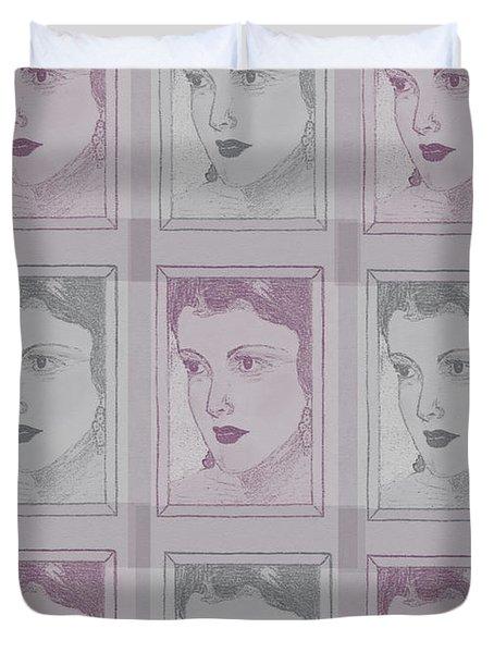 Aunt Edie Print Duvet Cover