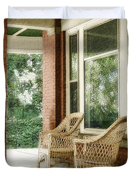 Aunt Jane's Porch Duvet Cover