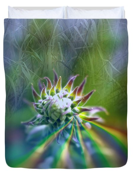 Duvet Cover featuring the photograph Aura by Adria Trail
