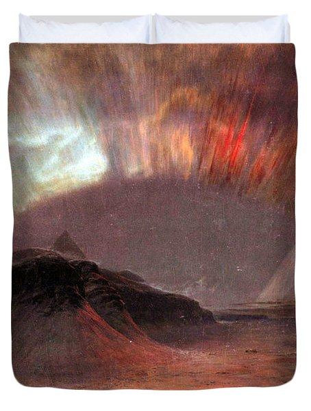Aurora Borealis By Frederick Edwin Church Duvet Cover