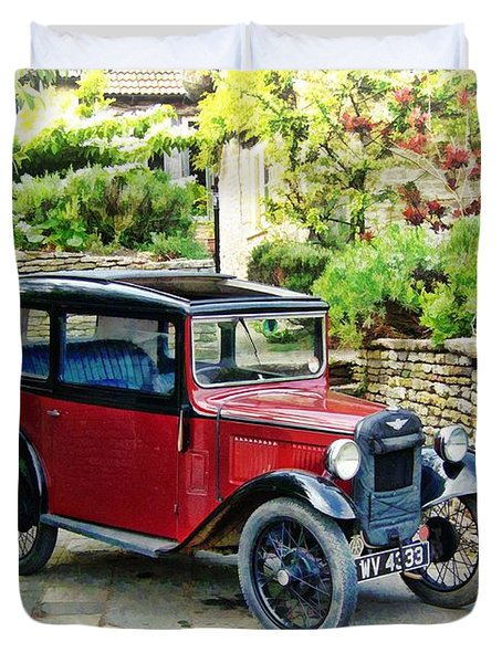 Duvet Cover featuring the photograph Austin Seven by Paul Gulliver