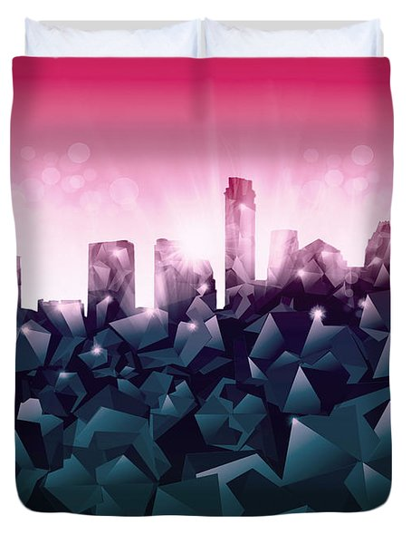 Austin Skyline Geometry 2 Duvet Cover