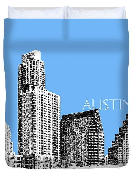 Austin Skyline - Sky Blue Duvet Cover