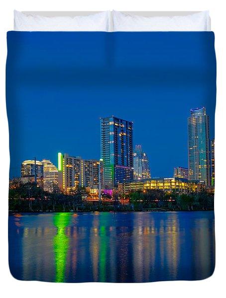 Austin Skyline Duvet Cover by Tim Stanley